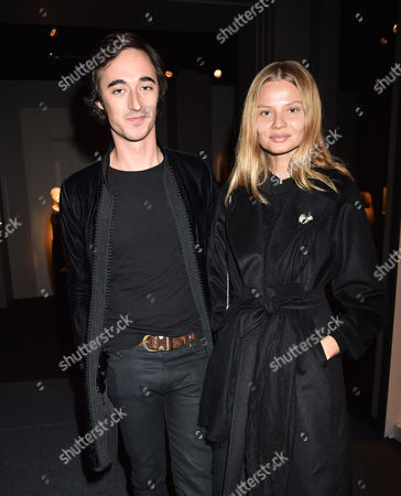 Stock Photo of 12 10 15 Pad London at Berkeley Square Private View Daniele Cavalli and Magdalena Frackowiak
