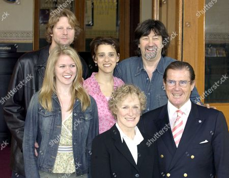 Photocall at the Royal Albert Hall London to Launch the Night of 1000 Voices with is Being Held On Sunday 4/5/2003 Featuring the Music of the Musicals Sir Trevor Nunn Directed Sir Trevor Nunn with Roger Moore & Glen Close Alan Campbell Lauren Kennedy & Judy Kuhn