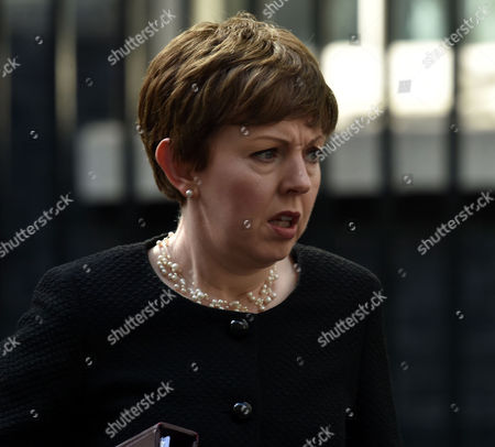 27 04 16 Politicians at Downing Street London Leader of the House of Lords Baroness Stowell of Beeston