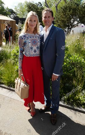 Stock Picture of 23 05 16 Press Day at Chelsea Flower Show at the Royal Hospital Chelsea West London Brendon Cole and His Wife Zoe