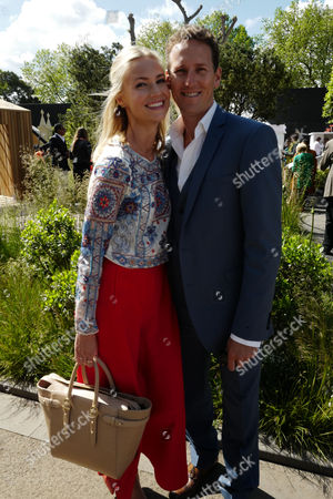 Stock Photo of 23 05 16 Press Day at Chelsea Flower Show at the Royal Hospital Chelsea West London Brendon Cole and His Wife Zoe