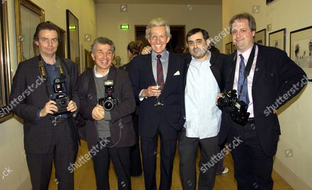 Private View at the National Portrait Gallery London For Lichfield the Early Years 1962-1982 Lord Patrick Lichfield with Photographers Daf Jones James Peltekian Alan Davidson & Dominic O'neill