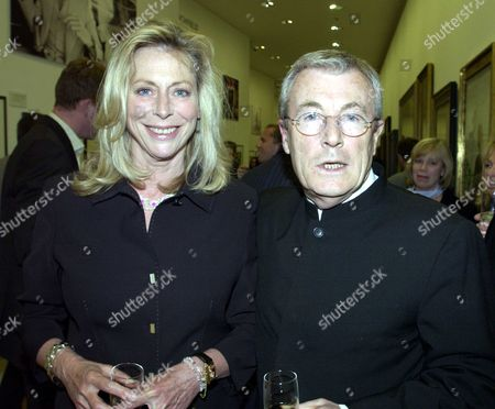 Private View at the National Portrait Gallery London For Lichfield the Early Years 1962-1982 Terry O'neill with His Wife Lorraine Ashton