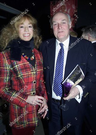 Stock Picture of Private View in Sotheby's Main Galleries For 'Precious Objects From Asprey and Garrard and Passion For Fashion Couture Accessories and Jewels' Bryony Brind with Her Husband Ian Mccorquodale (barbara Cartland's Son)