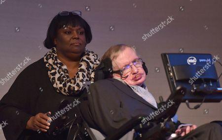 Professor Stephen Hawking and Patricia Dowdy