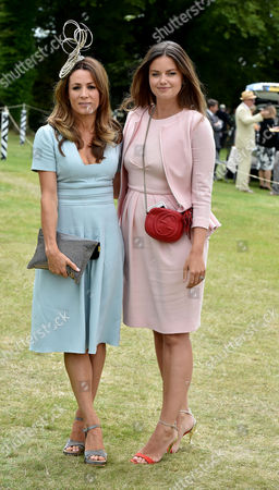 30 07 15 Qatar Goodwood at Goodwood Race Course Ladies Day Natalie Pinkham with Lady Natasha Rufus Isaacs