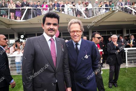 28 07 15 Qatar Goodwood Festval ' Glorious Goodwood ' at Goodwood Race Course West Sussex Lord March with Sheikh Joaan Bin Hamad Bin Khalifa Al-thani