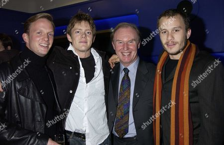 Stock Photo of Regus London Film Festival the Four Feathers Heath Ledger Joined the His Cast Members and Director For the Screening at the Odeon Westend Last Night Rupert Penry-jones Kris Marshall(bbc Tv Star of My Family) Tim Piggot-smith <heath Ledger