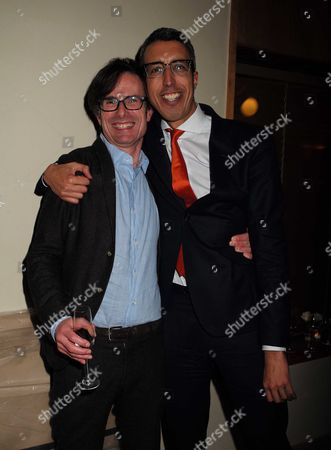 23 11 15 Robert Peston Bbc Leaving Party at the Kings Fund Cavendish Square Robert Peston with Kamal Ahmed the Bbc Business Editor