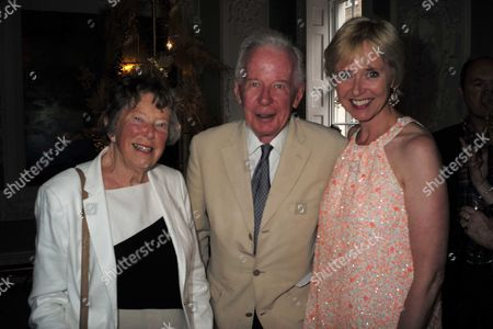 27 07 15 Rosie Millard Book Launch For Her New Book the Square at the House of St Barnabas Greek St Soho London Rosie with Her Mother and Father