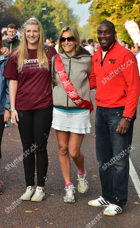 11 10 15 Royal Parks Foundation Half Marathon Start & Finish South Carriage Drive Hyde Park Rebecca Adlington Emily Maitlis and Derek Redmond