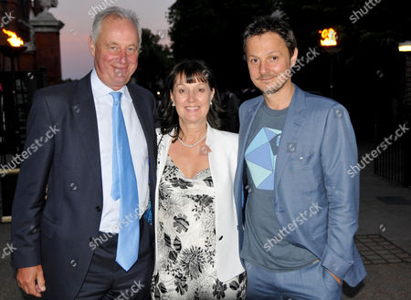 News International Summer Party at the Orangery Kensington Palace Tim Yeo Mp with His Wife and Son Artist Jonathan Yeo