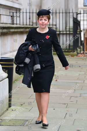 08 11 15 Scenes in Downing Street For Remembrance Sunday at 10 Downing Street Baroness Tina Stowell