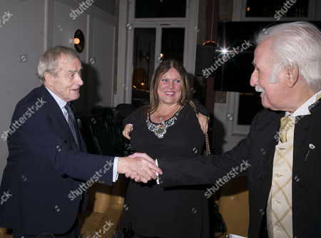 13 01 16 Screening of Attacking the Devil at the Picturehouse Central Shaftsbury Ave London Sir Harold Evans with Sunday Times Photographer Bryan Wharton