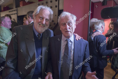 13 01 16 Screening of Attacking the Devil at the Picturehouse Central Shaftsbury Ave London Lord David Puttnam and Sir Harold (harry ) Evans