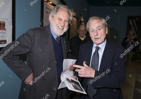 13 01 16 Screening of Attacking the Devil at the Picturehouse Central Shaftsbury Ave London Lord David Puttnam with Sir Harold ( Harry) Evans