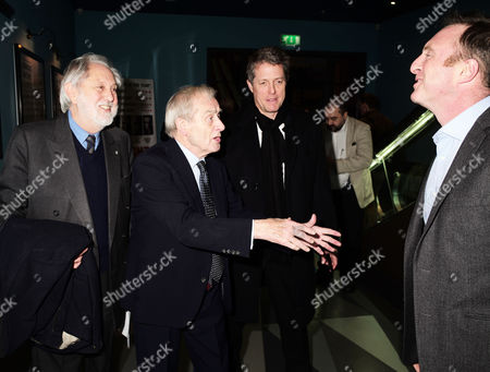 13 01 16 Screening of Attacking the Devil at the Picturehouse Central Shaftsbury Ave London Lord David Puttnam Sir Harold (harry) Evans Hugh Grant & James Harding