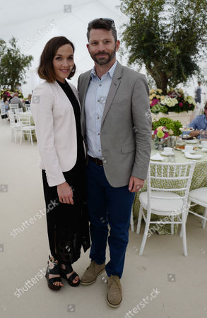 11 06 16 the Cartier Queen's Cup Final at Guards Polo Club Victoria Pendleton and Her Husband Scott Gardner