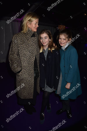 Stock Image of 01 12 15 the Foundation Carol Service in Aid of the St Paul's Knightsbridge Foundation at St Paul's Church Wilton Place Knightsbridge London Lady Helen Taylor and Her Daughters Eloise Taylor and Estella Taylor