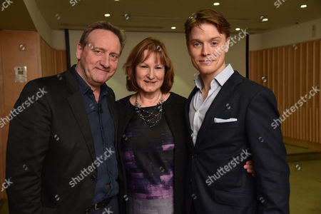 08 12 15 the Josephine Hart Poetry Hour at the British Library the Readers Neil Dudgeon Deborah Findlay and Freddie Fox