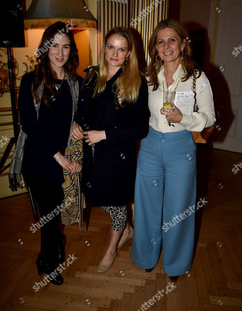 24 11 15 the Josephine Hart Poetry Hour at the Embassy of Ireland Katherine Rundell Lady Mary Wellesley & Lady Aliai Forte