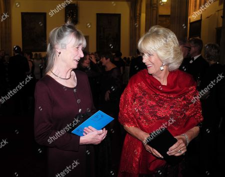 Stock Picture of 13 10 15 Nma Rota For the Daily Mail by Alanatalandavidson Net Davidson the Man Booker Prize Presention at the Guildhall Gresham Street Anne Tyler and Camilla the Duchess of Cornwall