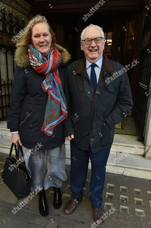 Stock Picture of 02 02 16 the Oldie Awards Lunch at Simpsons Resturant the Strand London Don Boyd and His Wife Hilary