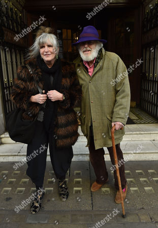 Stock Photo of 02 02 16 the Oldie Awards Lunch at Simpsons Resturant the Strand London Lucinda Lambton and Peregrine Worsthorne