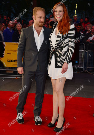 Stock Photo of 10 10 15 the Program Film Screening During the Bfi London Film Festival at the Odeon Leicester Square Ben Foster and Kari Kleiv