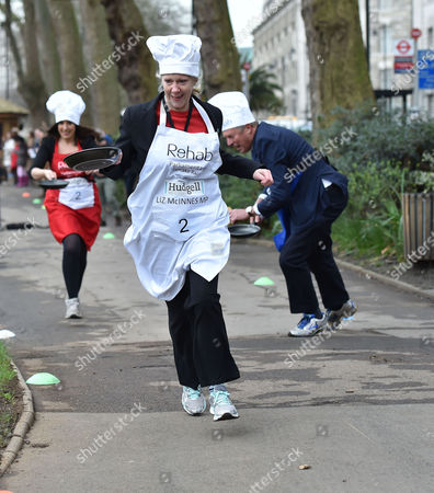 Editorial picture of The Rehab Parliamentary Pancake Race.