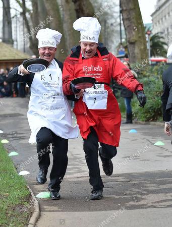 Editorial photo of The Rehab Parliamentary Pancake Race.