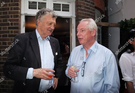 01 07 15 the Spectator Magazine Summer Party at Their Offices in Old Queen Street Westminster London William Shawcross and Francis Maude Mp