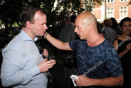01 07 15 the Spectator Magazine Summer Party at Their Offices in Old Queen Street Westminster London Graig Oliver and Steve Hilton
