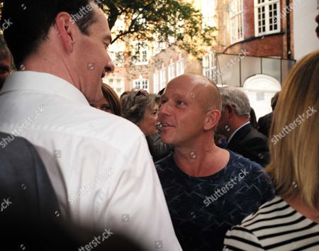 01 07 15 the Spectator Magazine Summer Party at Their Offices in Old Queen Street Westminster London George Osbourne Mp and Steve Hilton