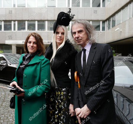 05 03 16 the Wedding Blessing of Rupert Murdoch and Jerry Hall at St Brides Church Fleet Street City of London Tracey Emin with Ivor Braka and Kristen Mcmenamy