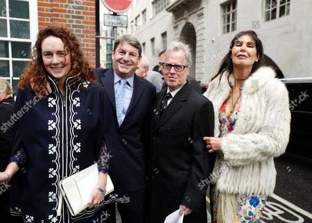 05 03 16 the Wedding Blessing of Rupert Murdoch and Jerry Hall at St Brides Church Fleet Street City of London Rebekah and Charlie Brooks with Annabel Brooks and James Dearden