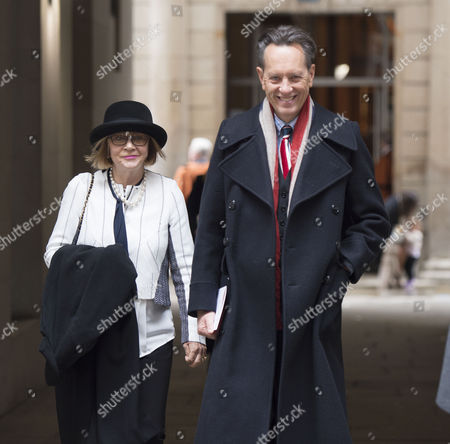 05 03 16 the Wedding Blessing of Rupert Murdoch and Jerry Hall at St Brides Church Fleet Street City of London Richard E Grant with His Wife Joan Washington