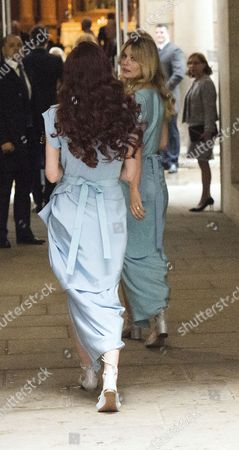 05 03 16 the Wedding Blessing of Rupert Murdoch and Jerry Hall at St Brides Church Fleet Street City of London Elizabeth Jagger & Georgia May Jagger