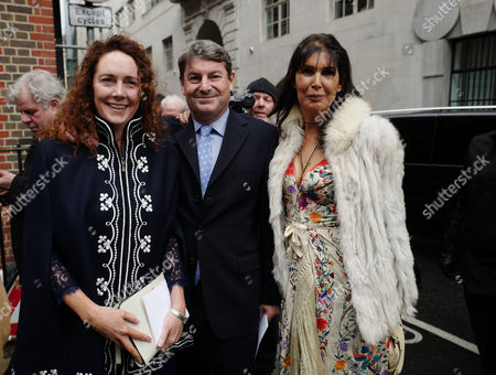 05 03 16 the Wedding Blessing of Rupert Murdoch and Jerry Hall at St Brides Church Fleet Street City of London Rebekah and Charlie Brooks with Annabel Brooks ( Charlies Sister)