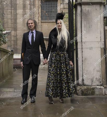 05 03 16 the Wedding Blessing of Rupert Murdoch and Jerry Hall at St Brides Church Fleet Street City of London Ivor Braka and Kristen Mcmenamy
