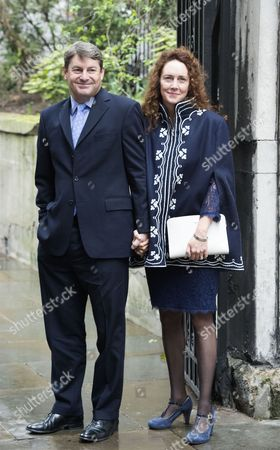 05 03 16 the Wedding Blessing of Rupert Murdoch and Jerry Hall at St Brides Church Fleet Street City of London Rebekah Brooks with Her Husband Charlie Brooks