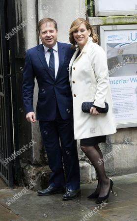 05 03 16 the Wedding Blessing of Rupert Murdoch and Jerry Hall at St Brides Church Fleet Street City of London Charles Dunstone and His Wife
