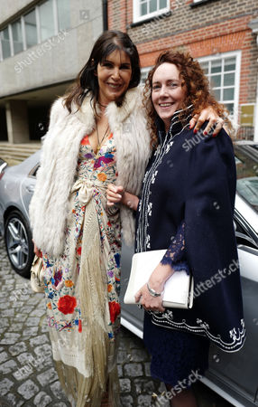 05 03 16 the Wedding Blessing of Rupert Murdoch and Jerry Hall at St Brides Church Fleet Street City of London Rebekah Brooks with Annabel Brooks ( Charlies Sister)
