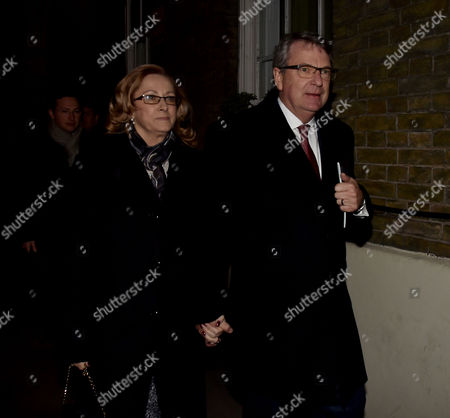 08 02 16 Tory Black and White Ball at the Brewery Chiswell Street Lynton Crosby with His Wife