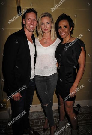 27 08 15 Transfer of Mcqueen to Theatre Royal Haymarket After Party at the Cafe Royal Brendan Cole Zoe Hobbs & Dame Kelly Holmes