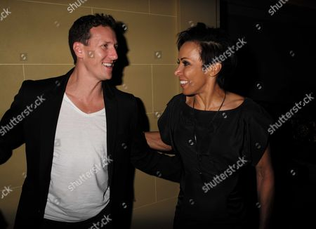 27 08 15 Transfer of Mcqueen to Theatre Royal Haymarket After Party at the Cafe Royal Brendan Cole & Dame Kelly Holmes
