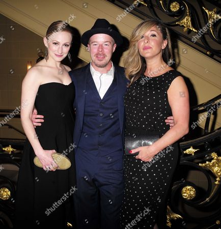 27 08 15 Transfer of Mcqueen to Theatre Royal Haymarket After Party at the Cafe Royal Carly Bawden Stephen Wight and Tracy Ann Oberman
