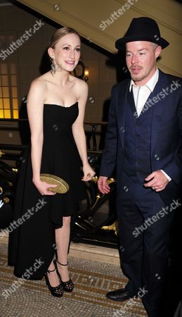 27 08 15 Transfer of Mcqueen to Theatre Royal Haymarket After Party at the Cafe Royal Carly Bawden with Stephen Wight
