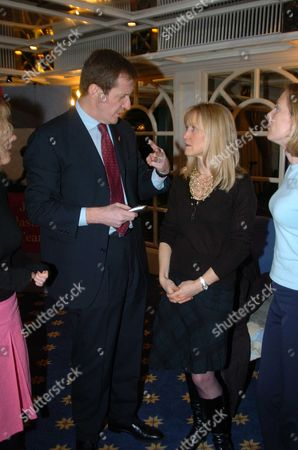 Triathlon Launch Party at the Park Lane Hilton Hotel in Aid of the Leukaemia Reserach Fund Alastair Campbell & Fiona Miller