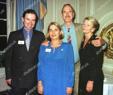 Stock Image of Video Arts 25th Anniversary Party at the Hyde Park Hotel Richard Harman Margaret Tree John Cleese and Tina Tietjen
